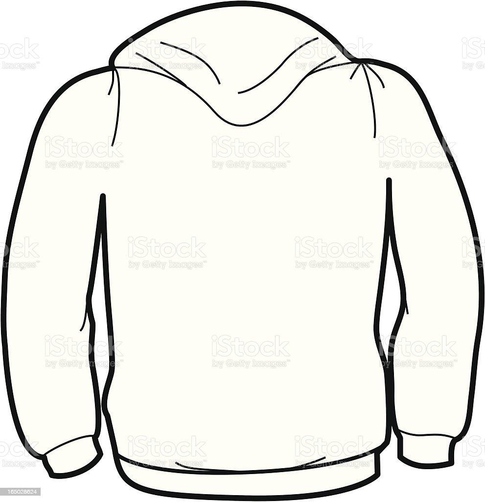Adult Size Sweatshirt Back vector art illustration