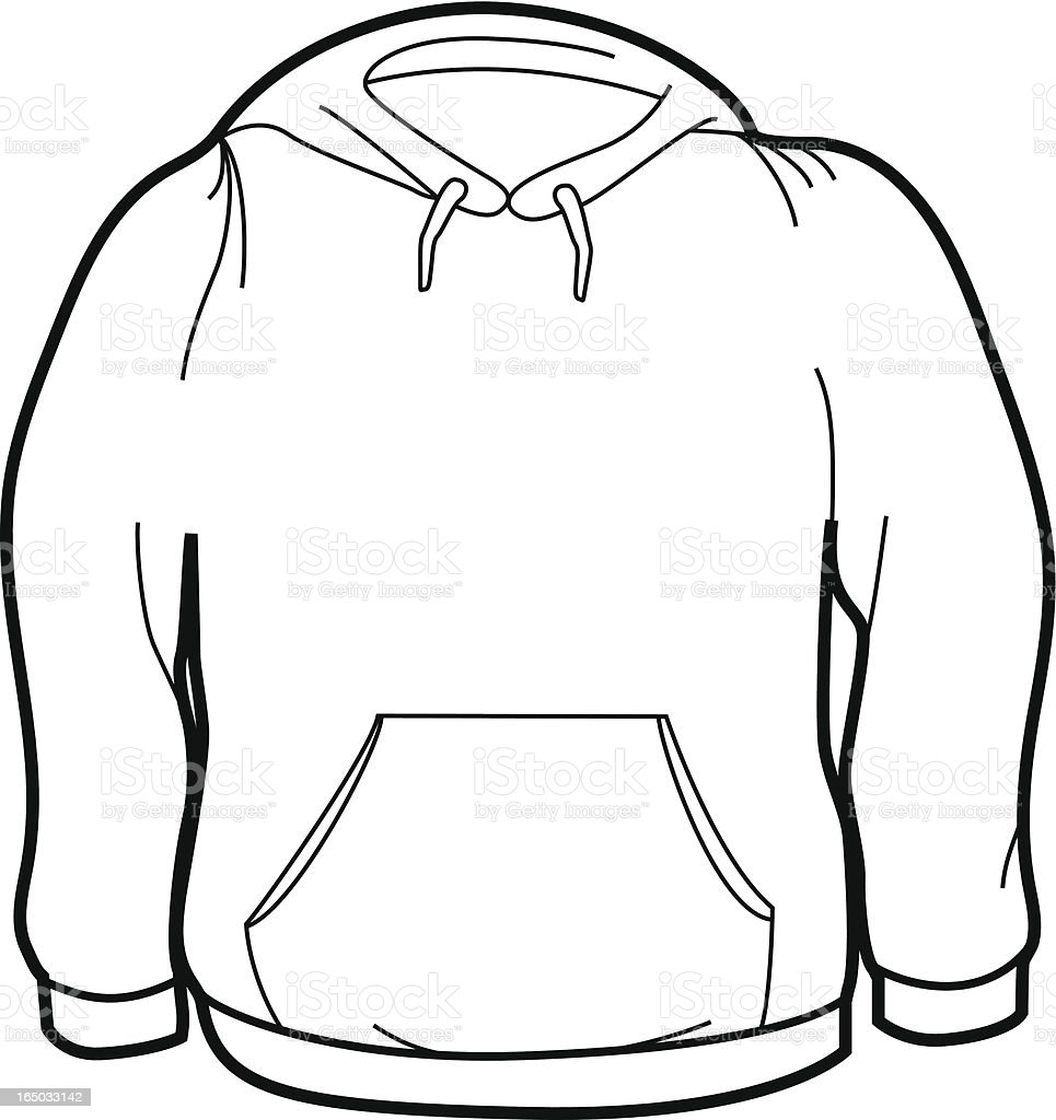 Adult Size Sweatshirt vector art illustration