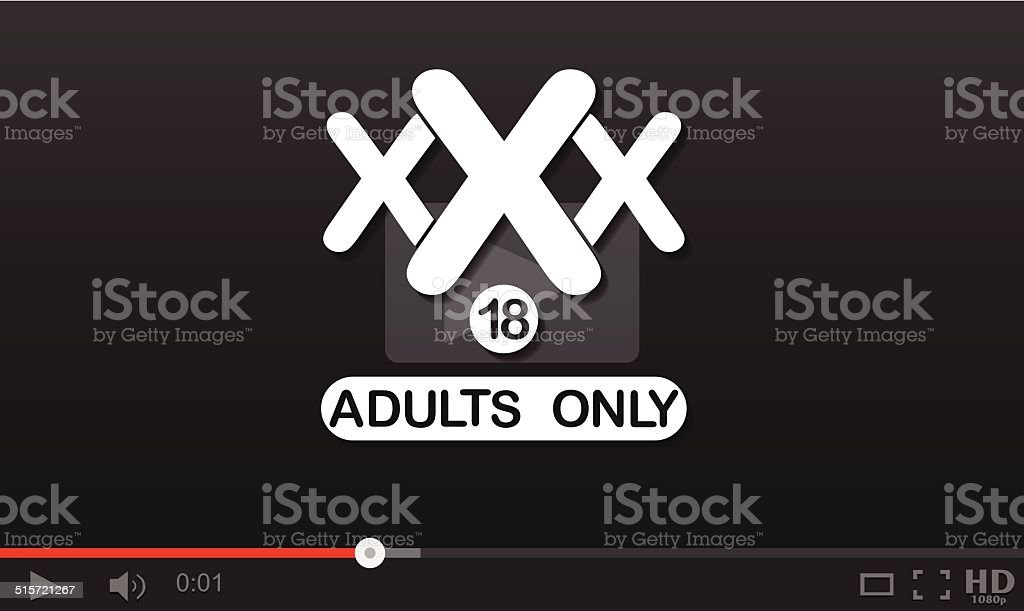 Adulte xxx lecteur vidéo stock vecteur libres de droits libre de droits
