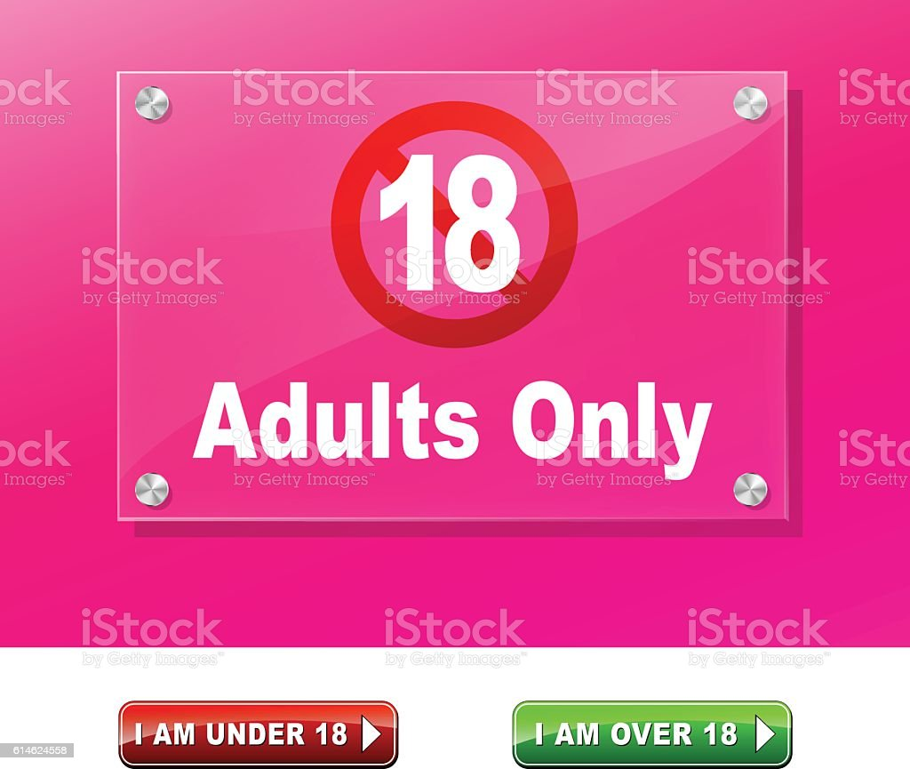 adults only access vector art illustration