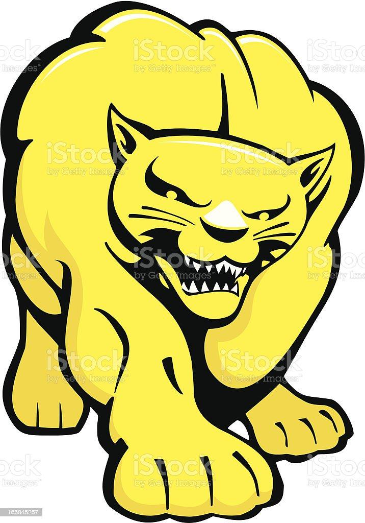 Advancing Muscular Cougar royalty-free stock vector art