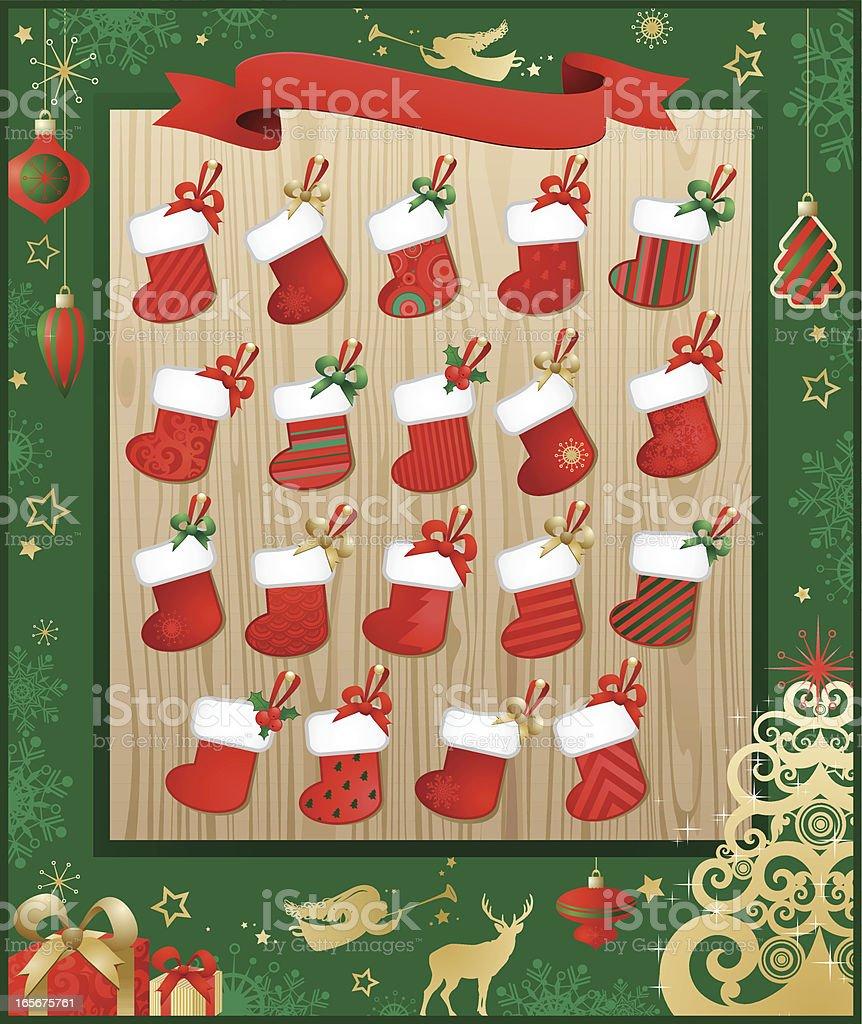 Art Advent Calendar : Advent calendar stock vector art istock