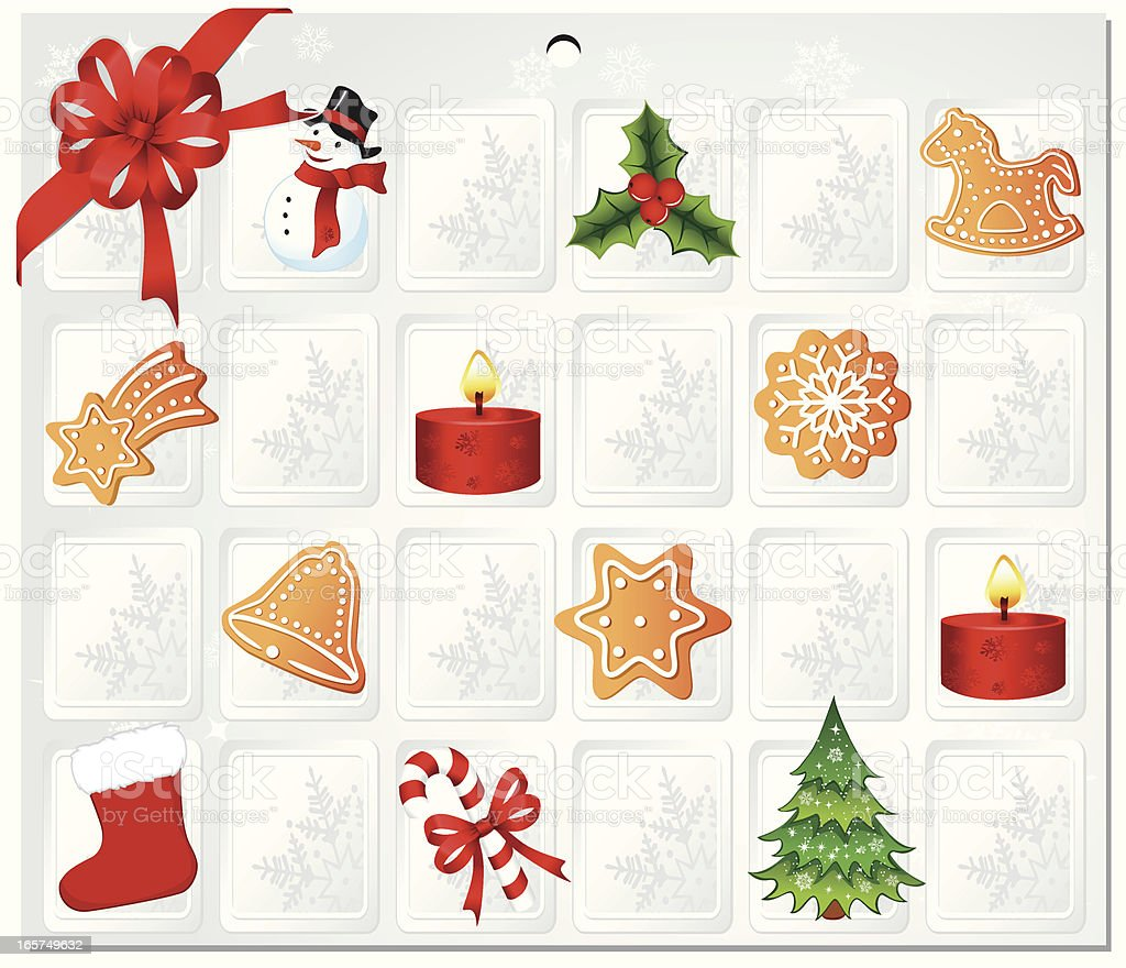 Advent Calendar royalty-free stock vector art