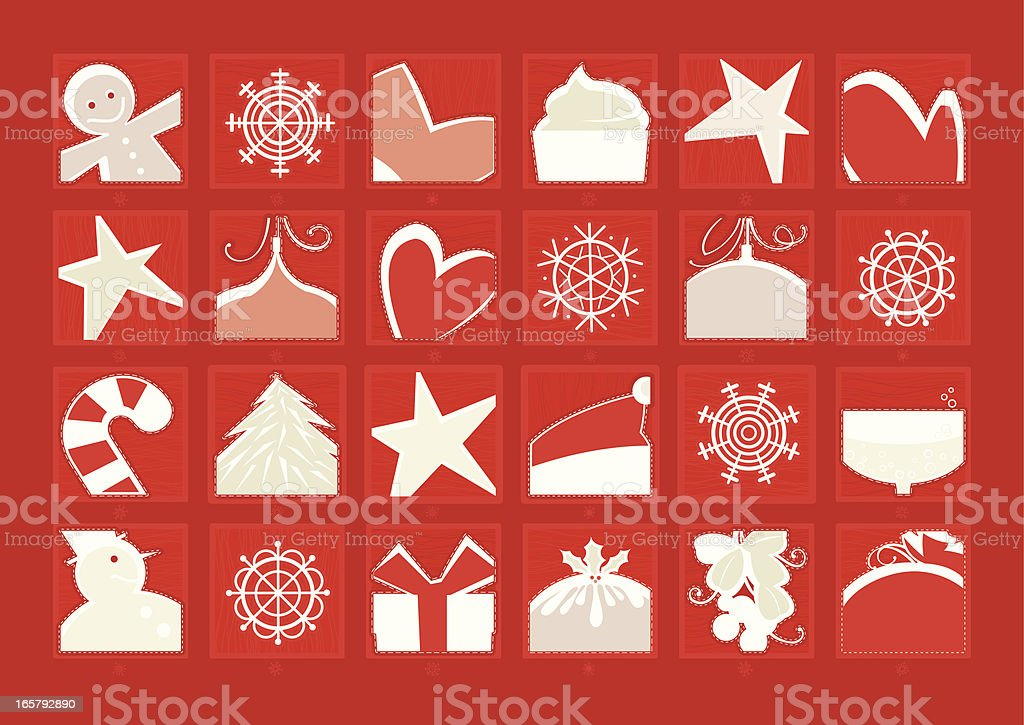 Advent Calendar (Red Background) royalty-free stock vector art