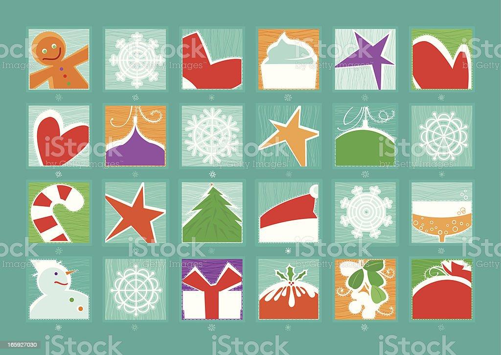 Advent Calendar royalty-free stock vector art