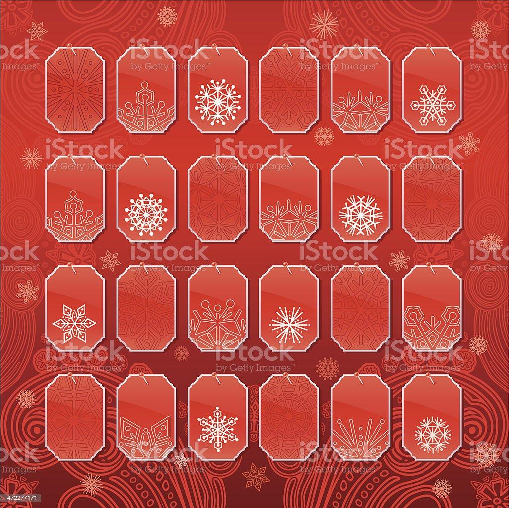 Advent Calendar (Red) royalty-free stock vector art