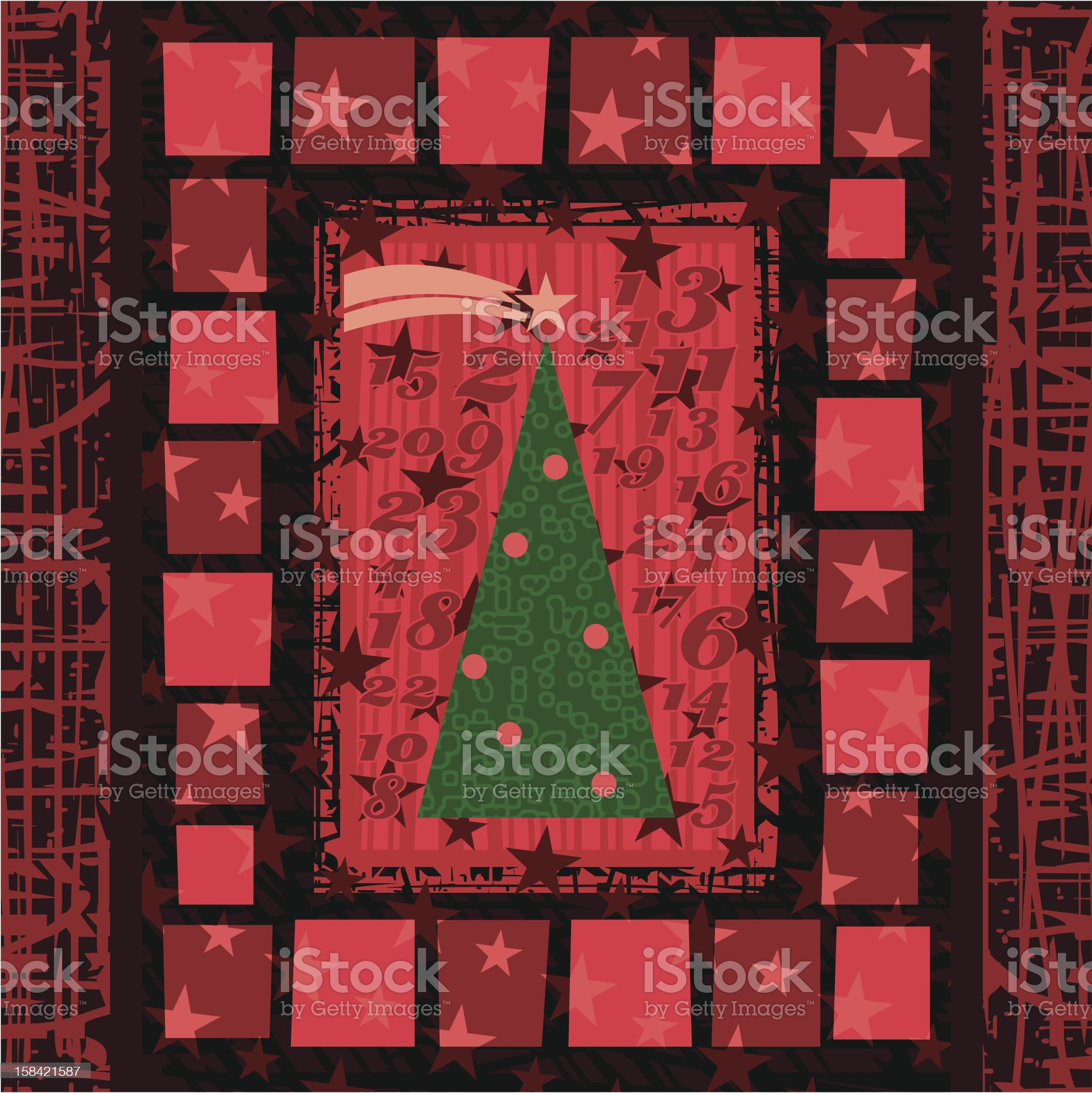 Advent Christmas Background royalty-free stock vector art