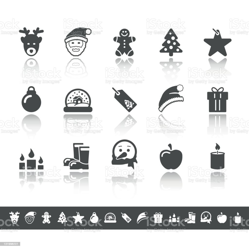 Advent & Christmas Icons | Simple Grey stock photo