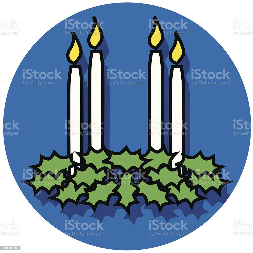 advent wreath icon vector art illustration