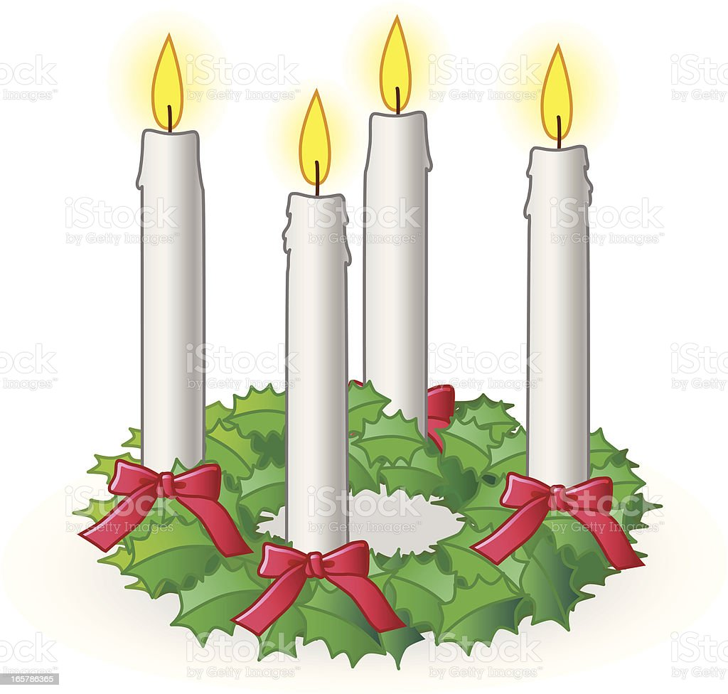 advent wreath royalty-free stock vector art