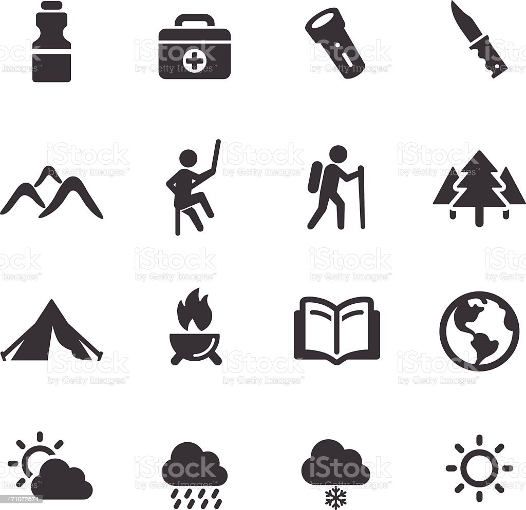 Adventure and Camping Icons - Acme Series vector art illustration