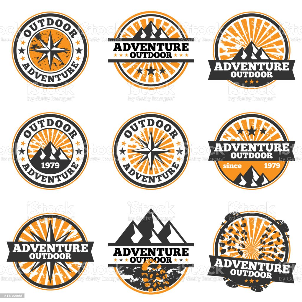 Adventure Badge vector art illustration