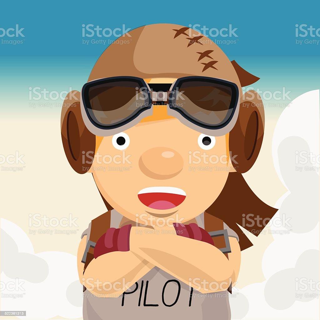 adventure man. pilot. aviation - vector illustration vector art illustration