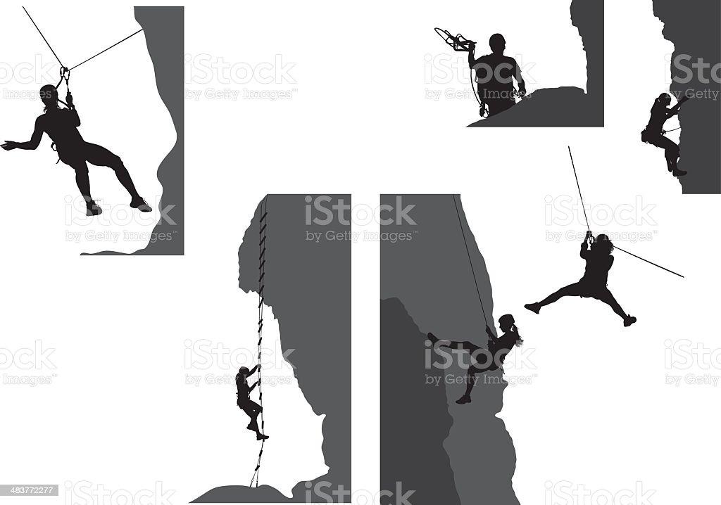 Adventure pack vector art illustration