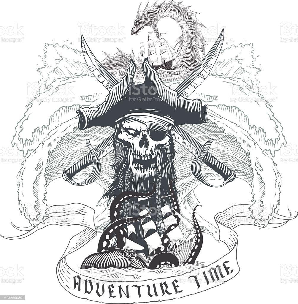 Adventure time vector art illustration