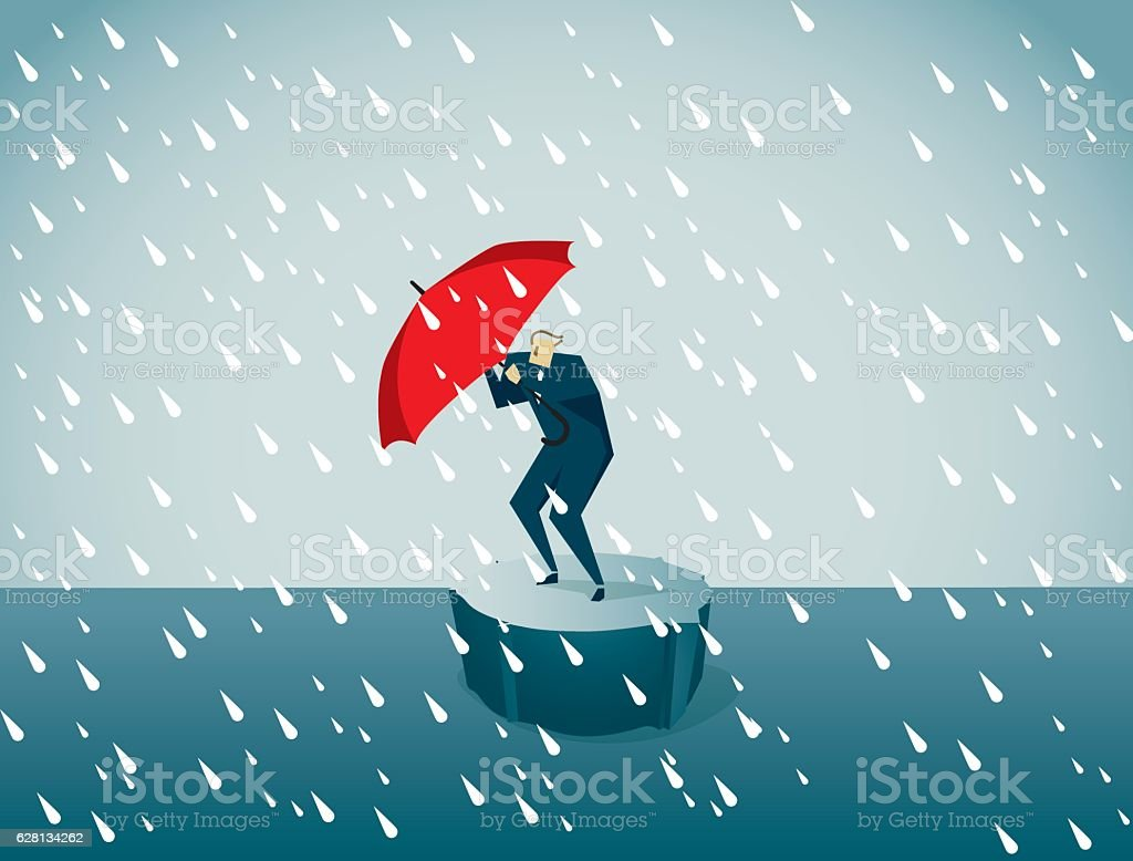 Adversity vector art illustration