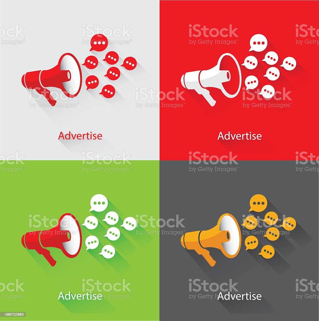 Advertise Concept,vector royalty-free stock vector art