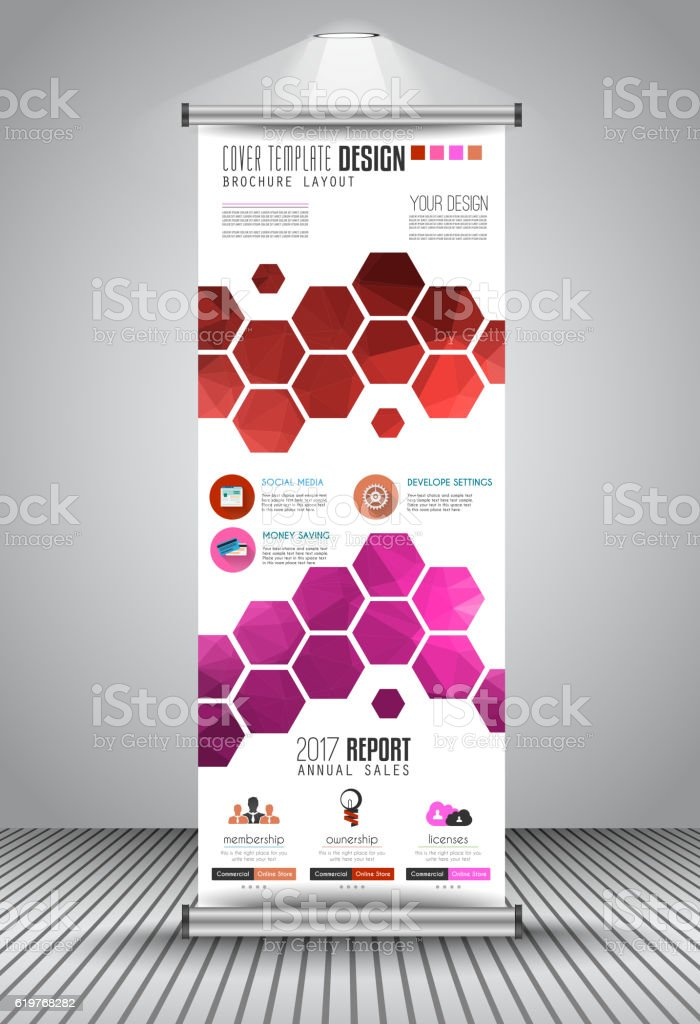 Advertisement Roll Up Business Flyer Or Brochure Bannervertical