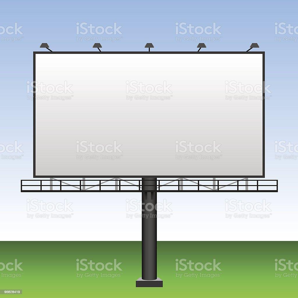 Advertising billboard royalty-free stock vector art
