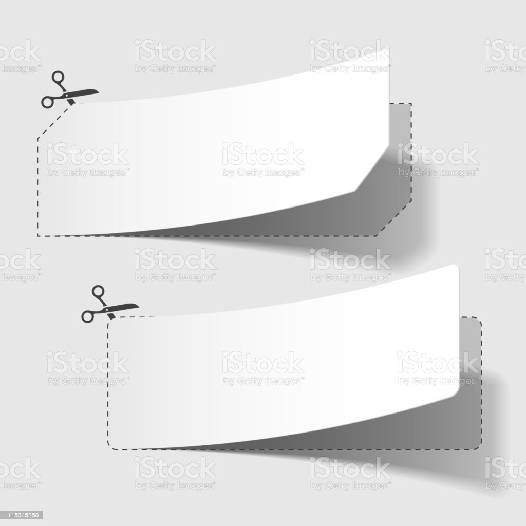Advertising coupons vector art illustration