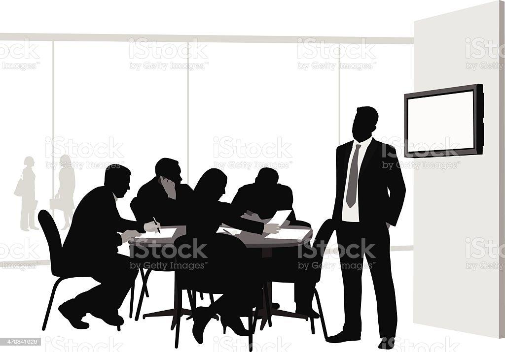 AdvertisingFirm vector art illustration