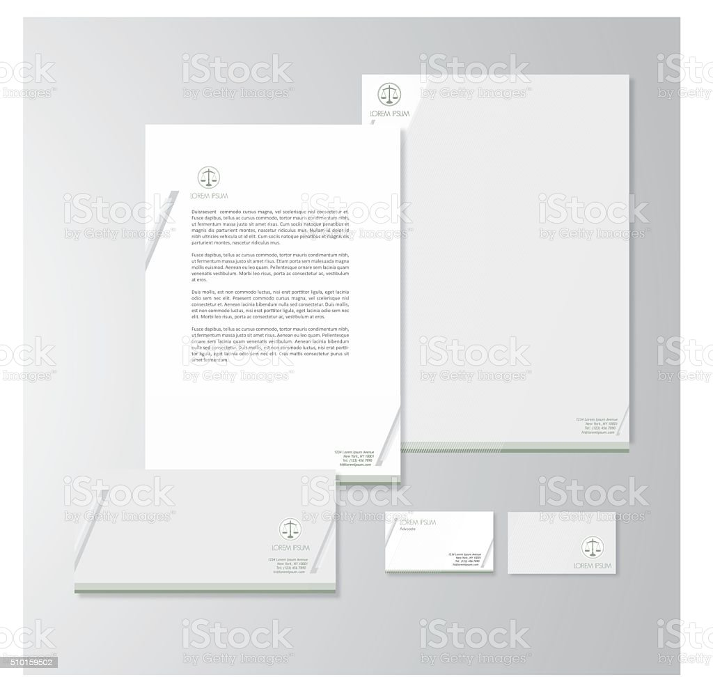 Advocate stationery design vector art illustration