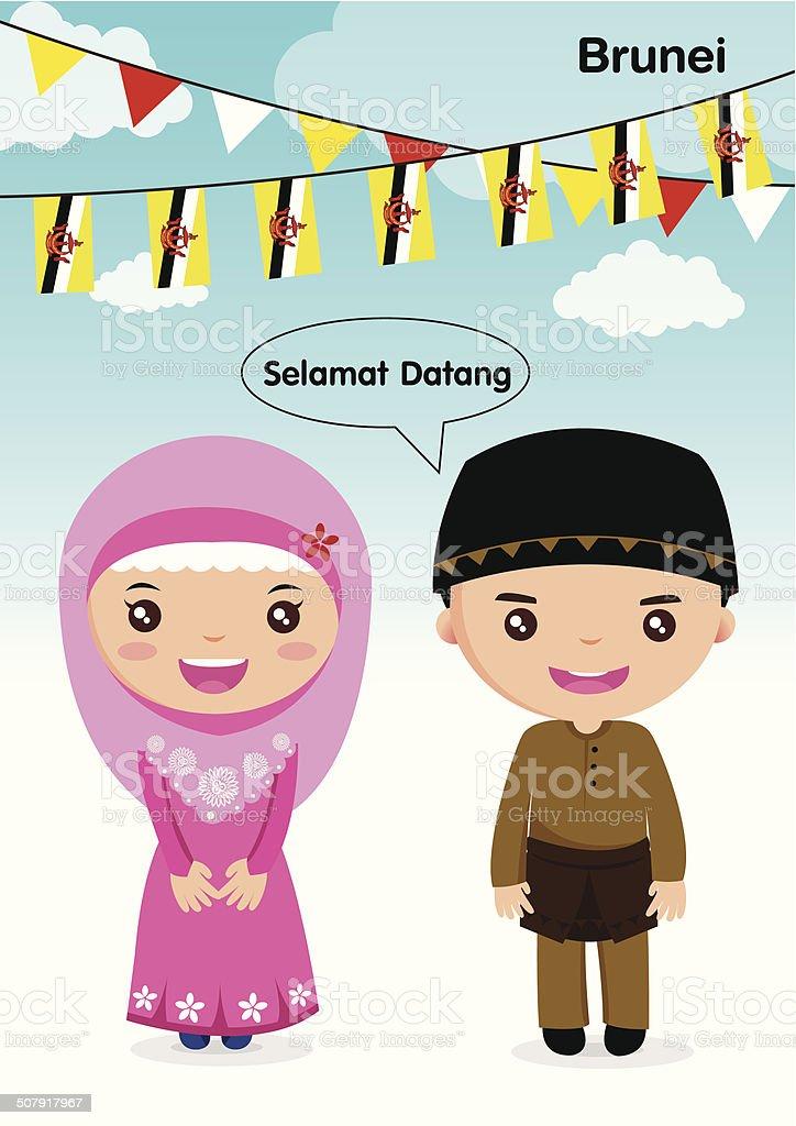 AEC-Brunei royalty-free stock vector art