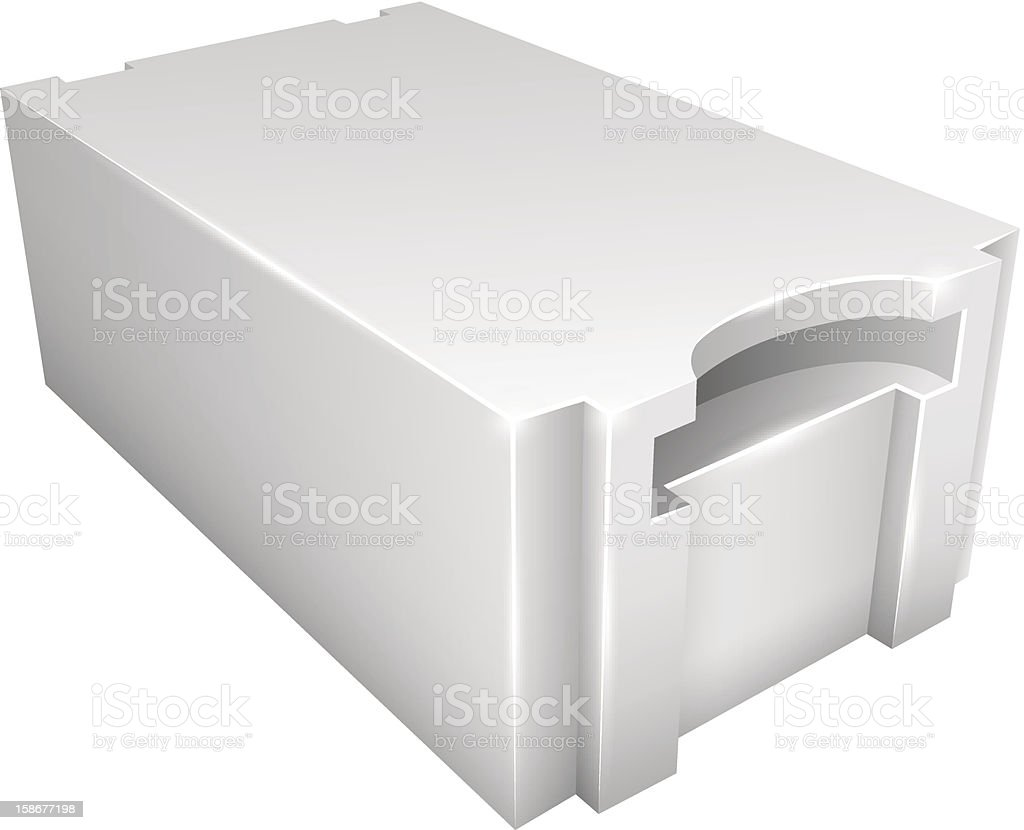 Aerated concrete block royalty-free stock vector art