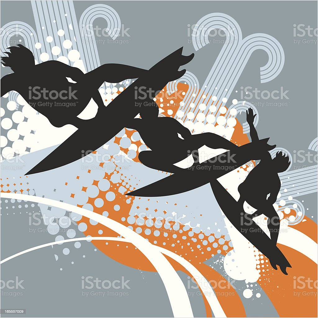 aerial sequence royalty-free stock vector art