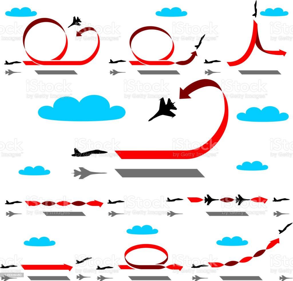 Aerobatics airplane vector art illustration