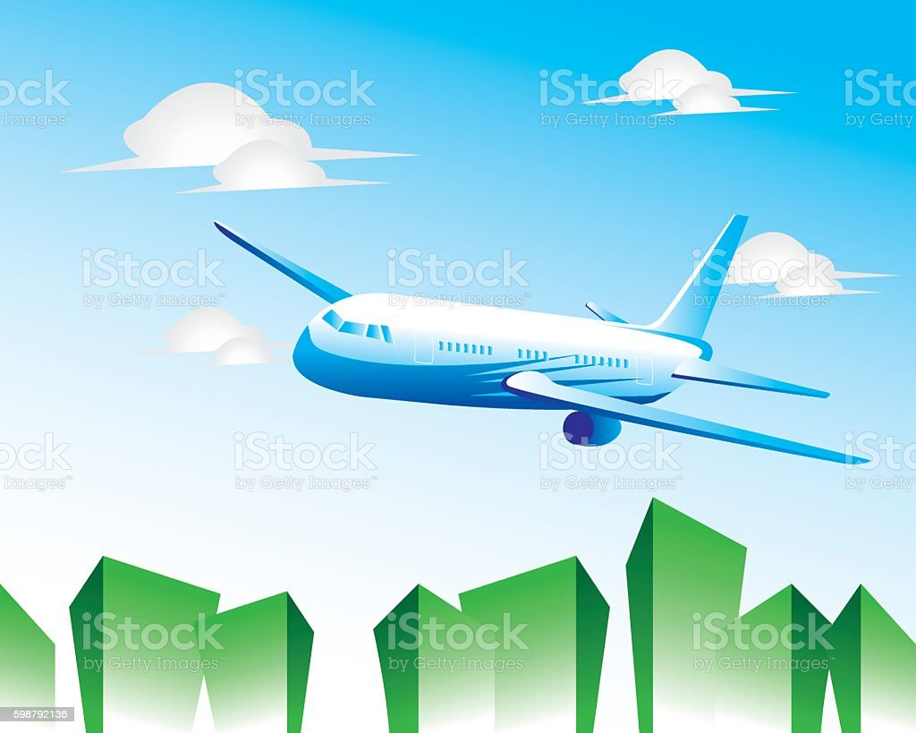 aeroplane illustration vector art illustration