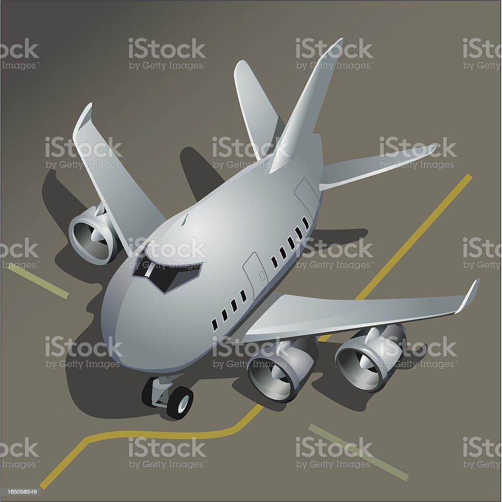Aeroplane Parking at Airport Terminal royalty-free stock vector art