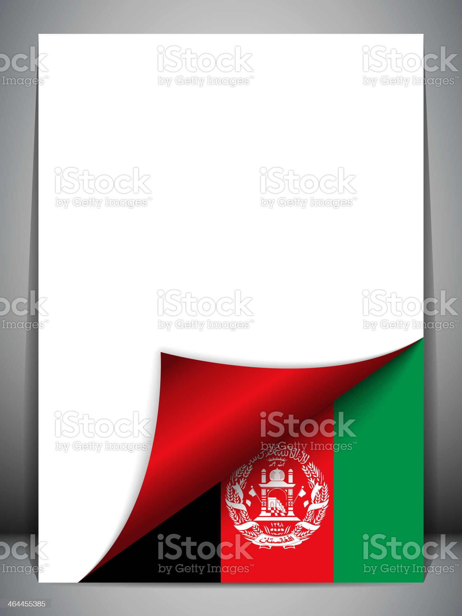 Afghanistan Country Flag Turning Page royalty-free stock vector art