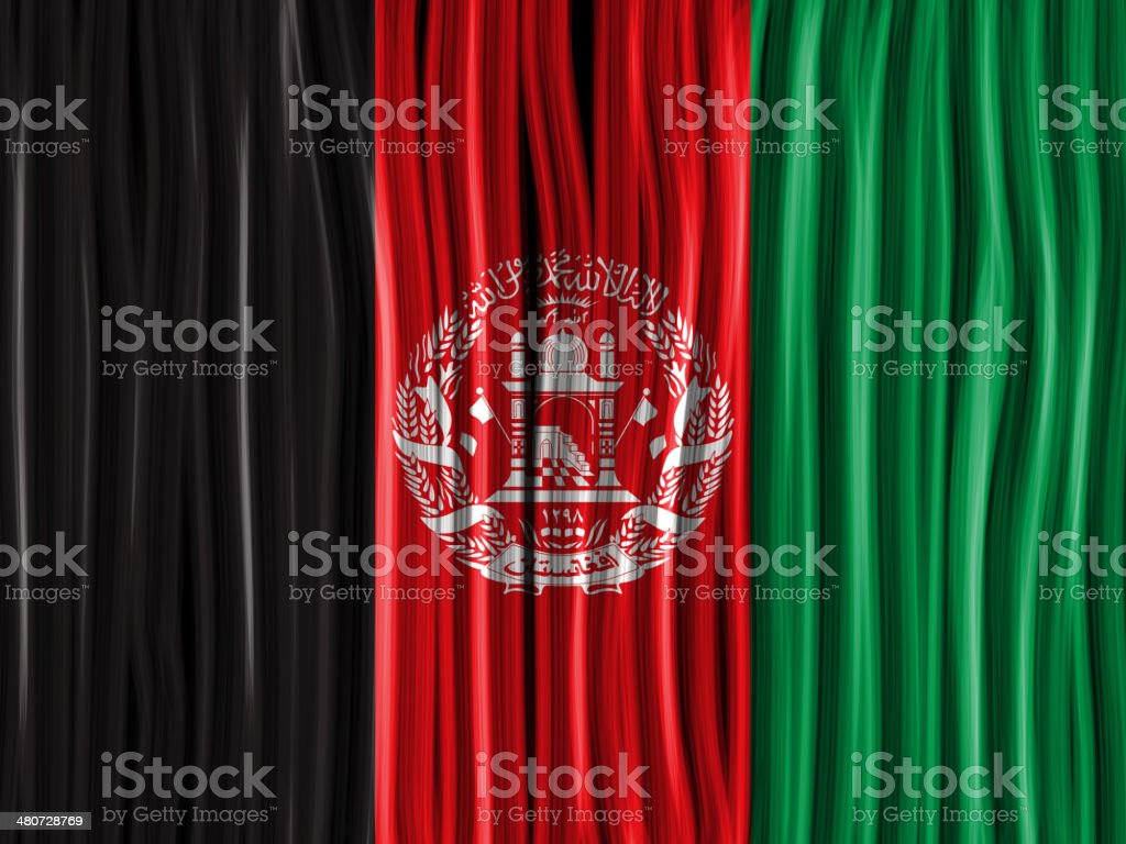 Afghanistan Flag Wave Fabric Texture Background vector art illustration