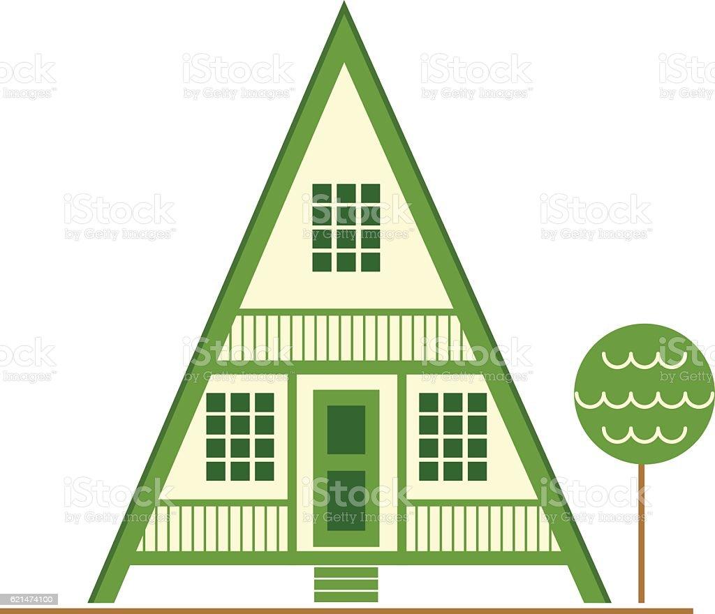aframe house stock vector art 621474100 istock a frame house royalty free stock vector art