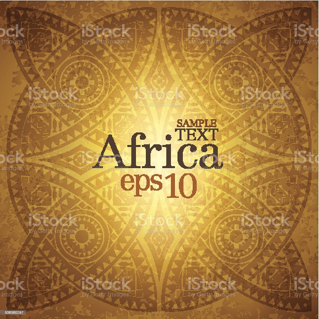 Africa background. vector art illustration