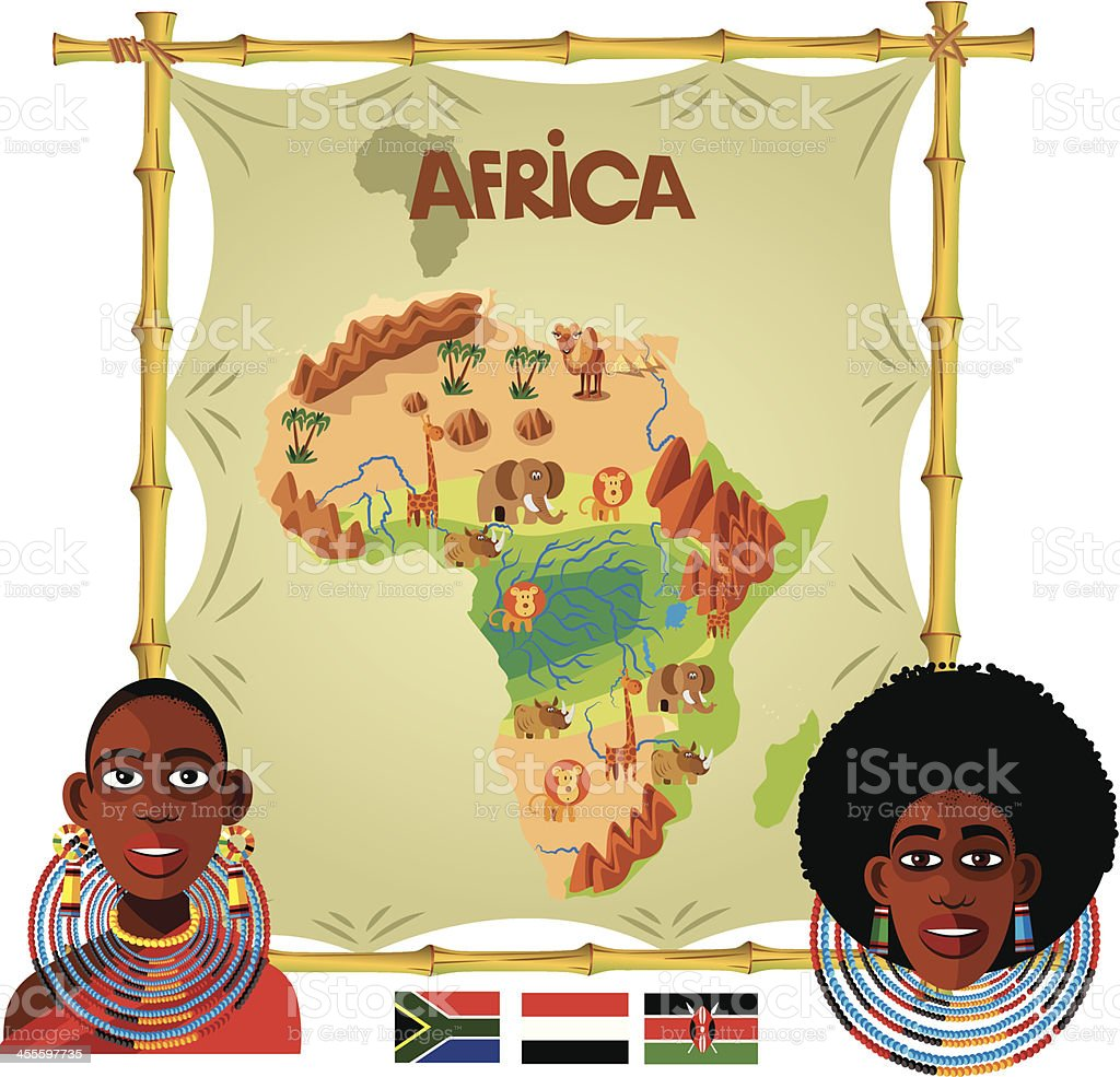 Africa Cartoon map royalty-free stock vector art
