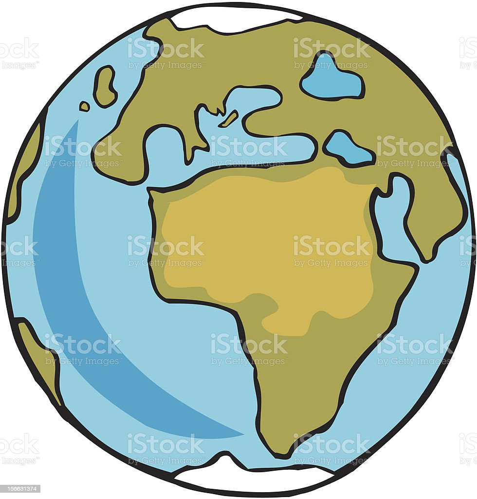 Africa from Space vector art illustration
