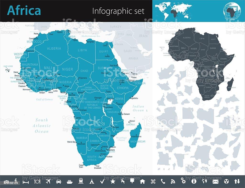 Africa - Infographic map - illustration vector art illustration