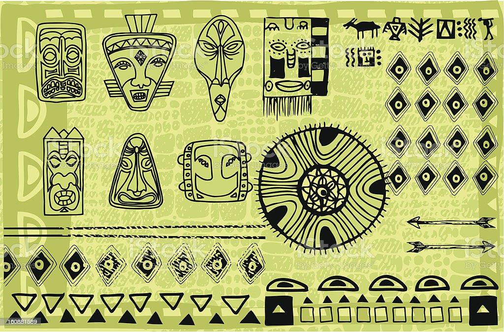 Africa inspired illustration vector art illustration