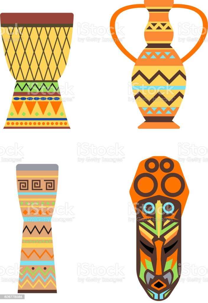 Africa jungle ethnic culture icon vector. vector art illustration