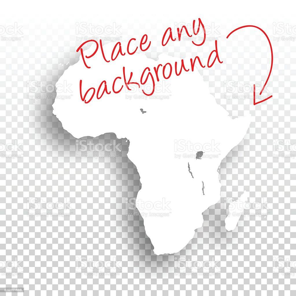 Africa Map for design - Blank Background vector art illustration
