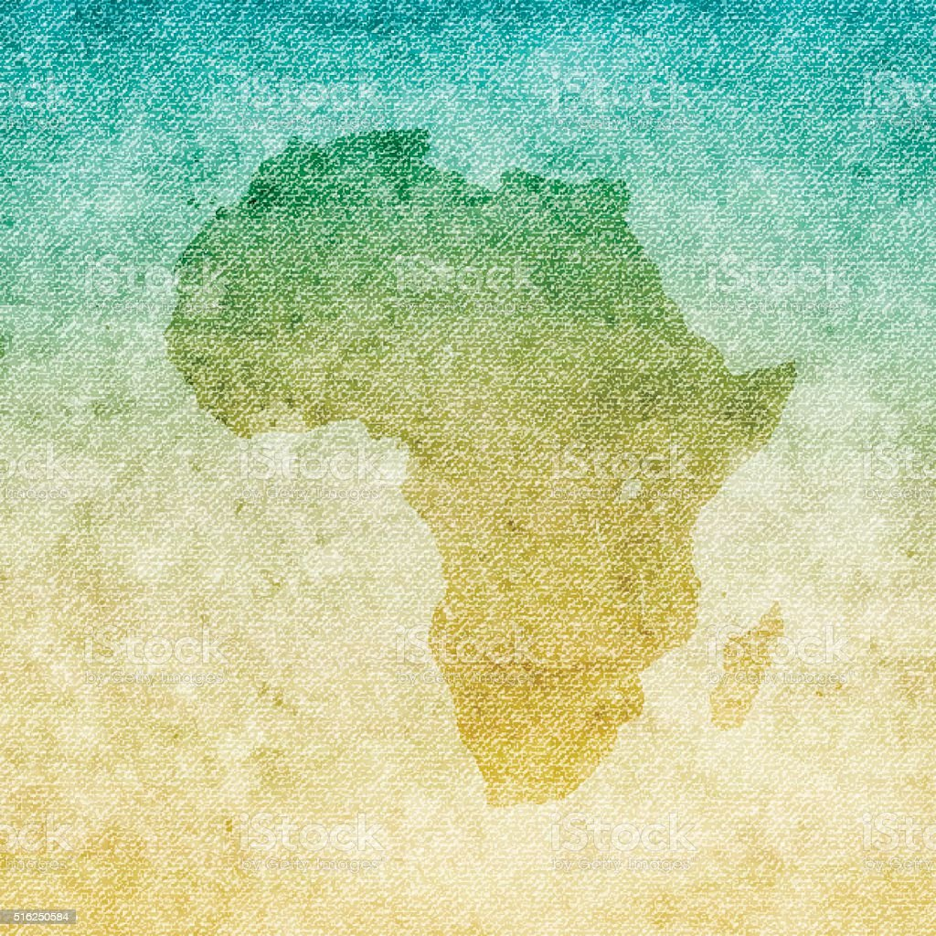 Africa Map on grunge Canvas Background vector art illustration