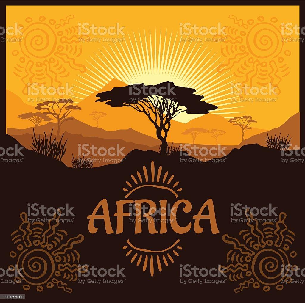 Africa - vector poster vector art illustration