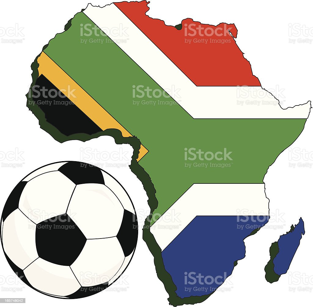 Africa World Cup royalty-free stock vector art