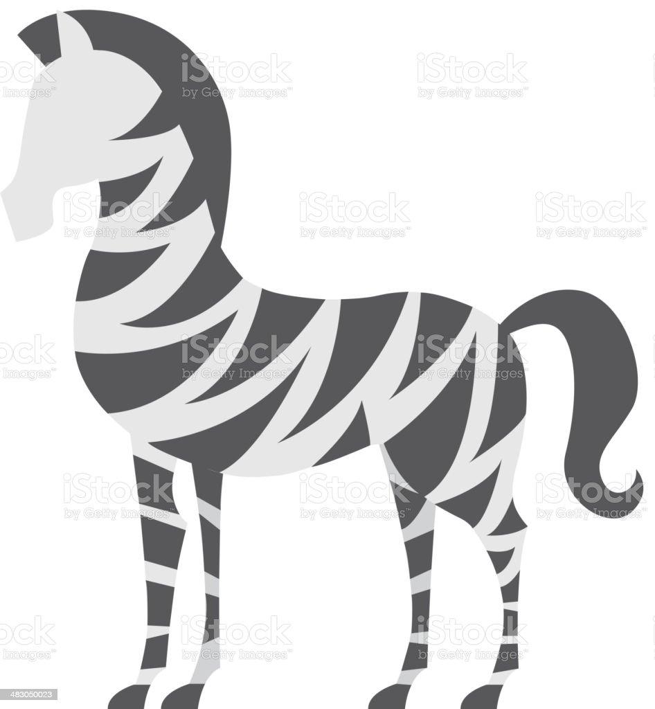 Africa Zebra Design royalty-free stock vector art