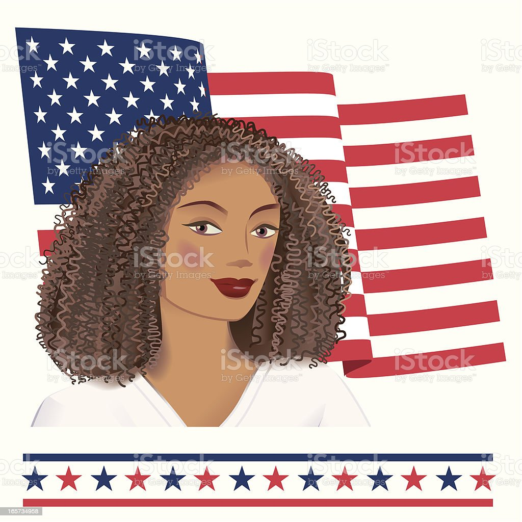 African American Advancement vector art illustration