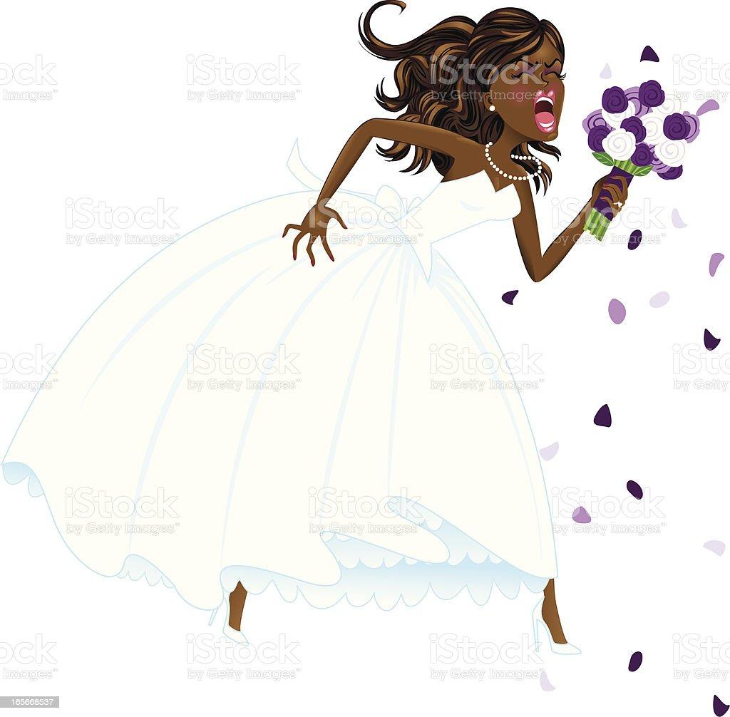 African American Bridezilla royalty-free stock vector art