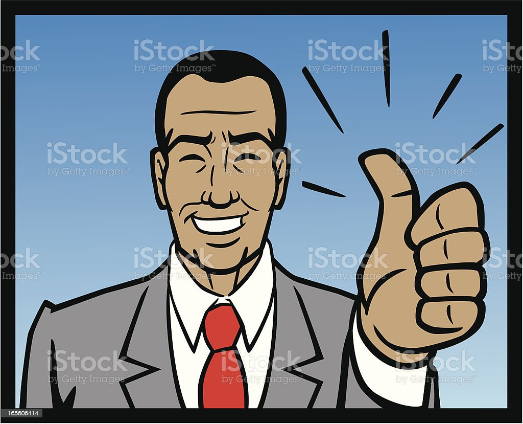 African American Business Man Thumbs Up royalty-free stock vector art