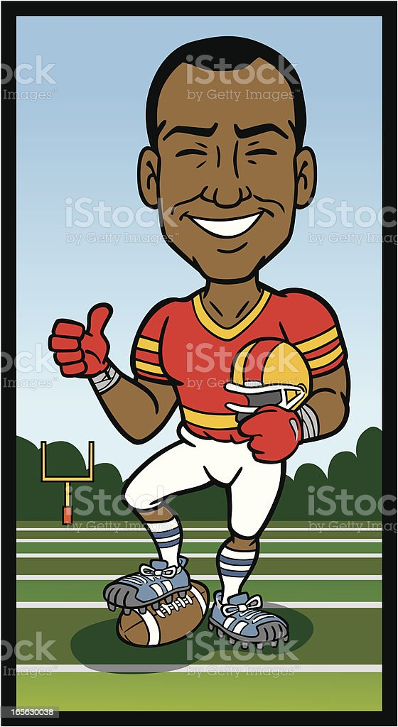 African American Football Player royalty-free stock vector art